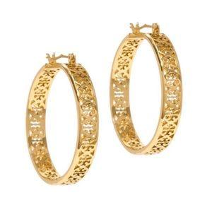 Tory Burch Gold Kinsley Hoop Earrings